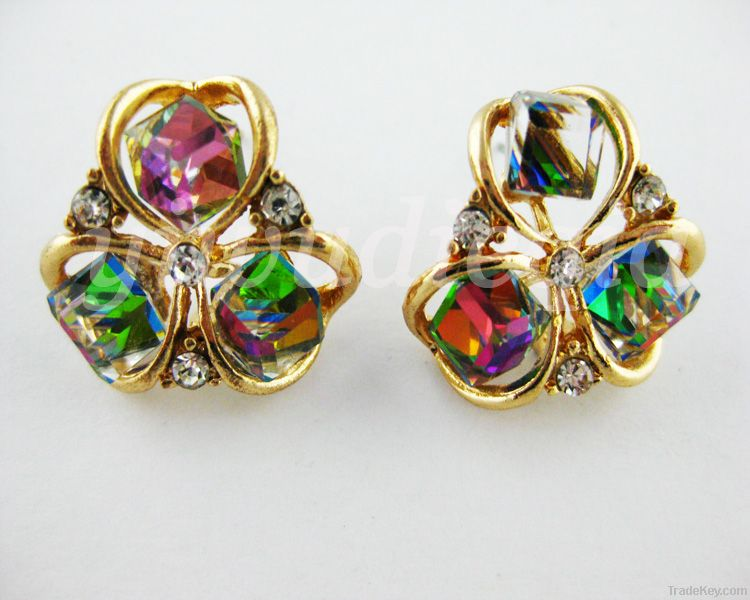 Flower Crystal Earrings