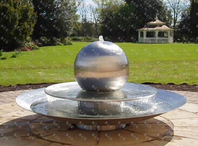 stainless steel sphere fountains