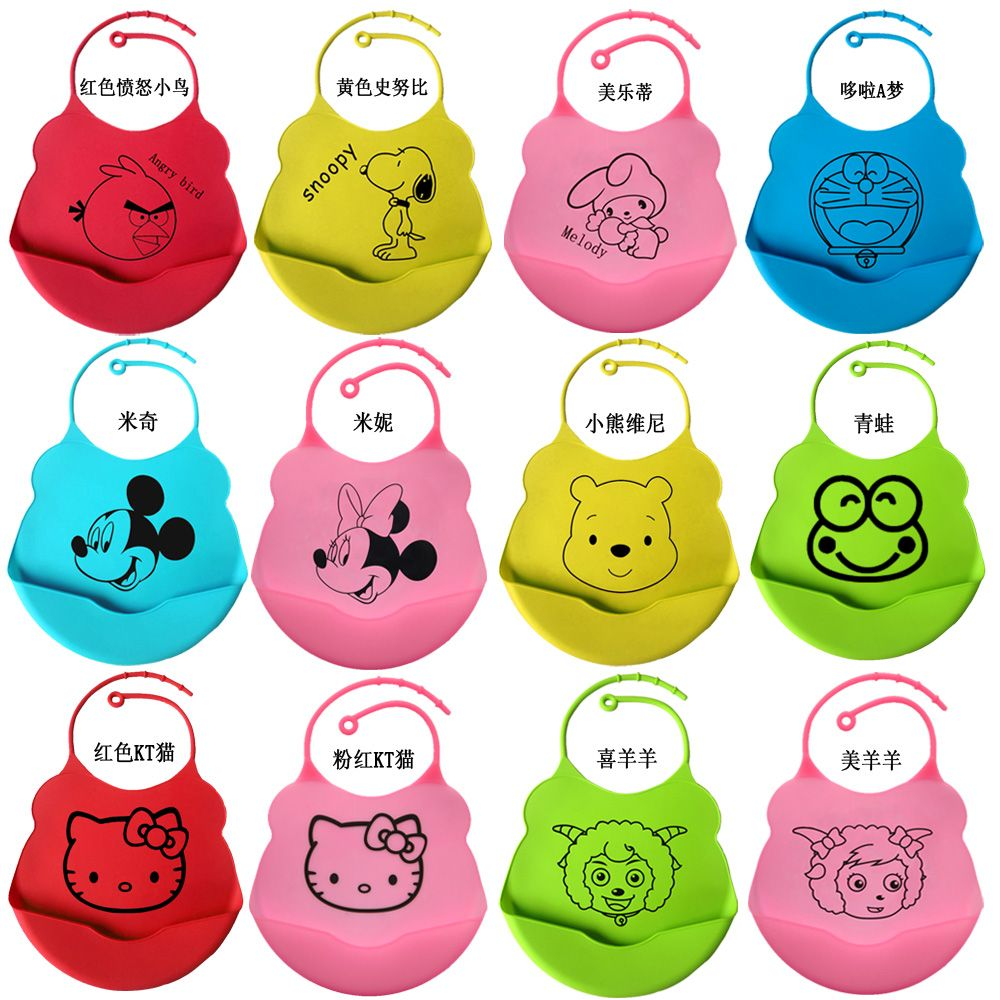Hot Selling New Style Cute Silicone Baby Bibs