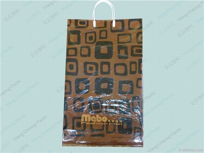 2013 patch handle plastic bag with Various Color Made in china