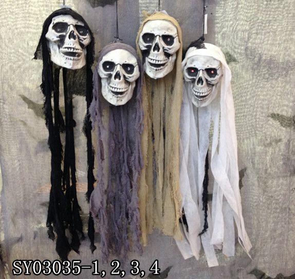 hanging skeleton monster for halloween decoration