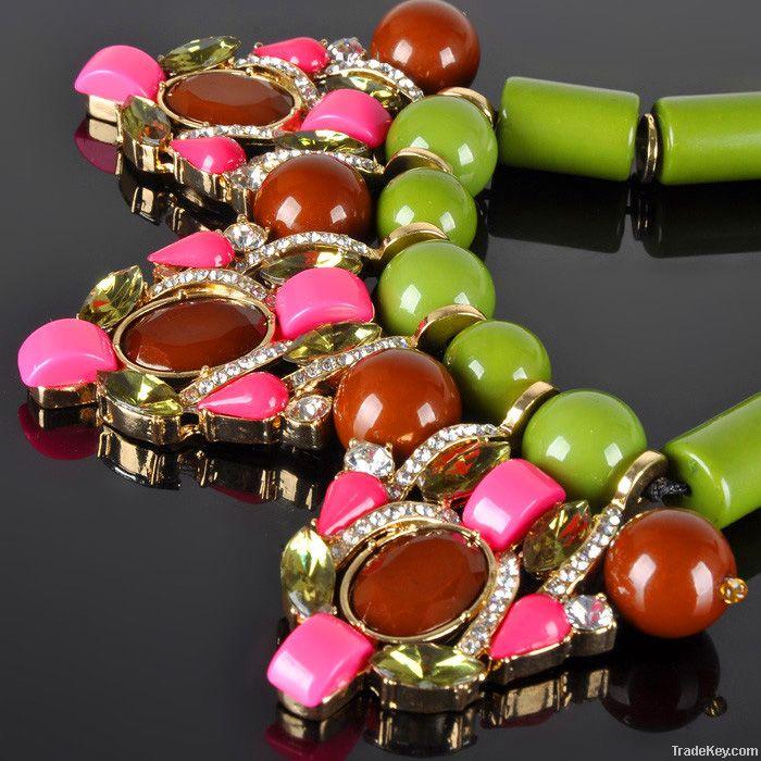 Italian Design Jewelry Fashion Accessories Bib Statement Necklace