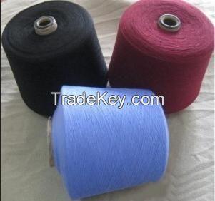 Dyed color 100% polyester spun yarn