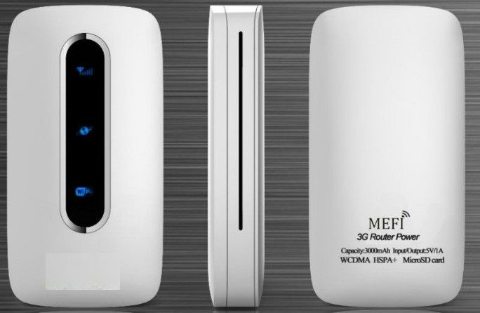 Forshines 3G Wifi Router Sim Card+ 3000mAh Power Bank FWR-10+