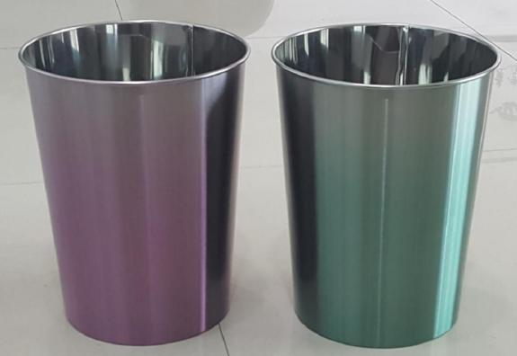 stainless steel waste bin trash can