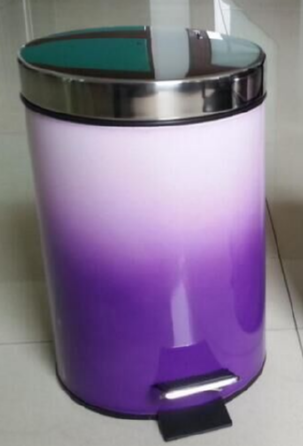 new design stainless steel home metal trash can waste bin