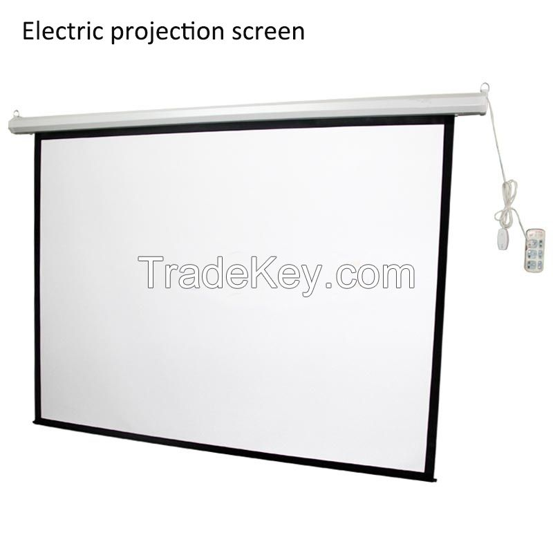 factory directly selling motorised projection screen/high definition electric projection screen/big size projector sreen