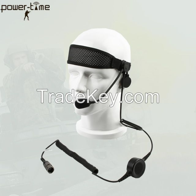 Light weight single ear tactical headset PTE-M10