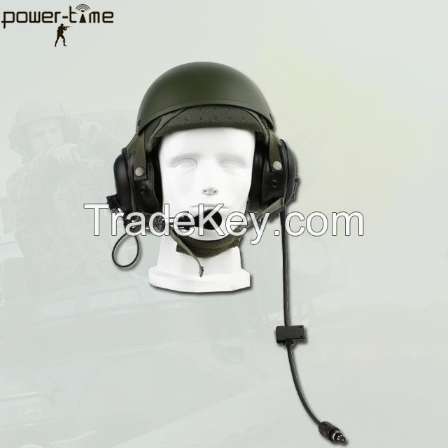 Military CVC tank helmet headset DH-132 for Armored forces PTE-747