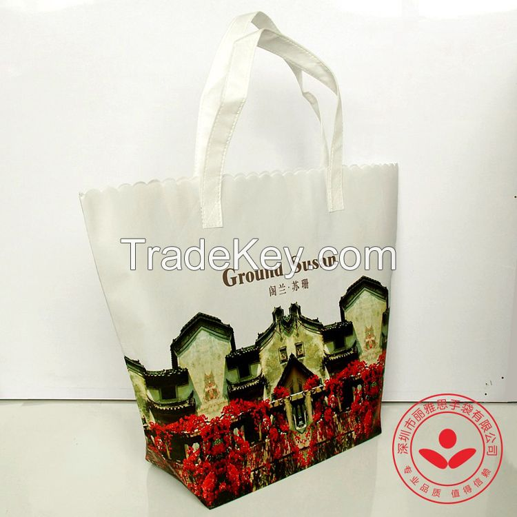 OEM logo free non woven woman handbag