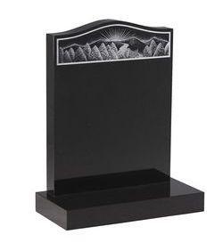 absolute black, black pearl granite monuments