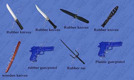 Buy Pakistani Krav Maga Gears Martial Arts Weapons Rubber Knives