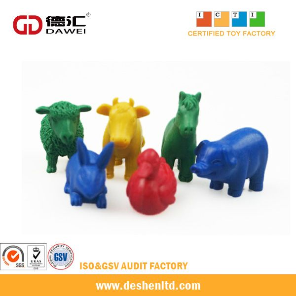 Plastic animal counters educational math toys and puzzle toys