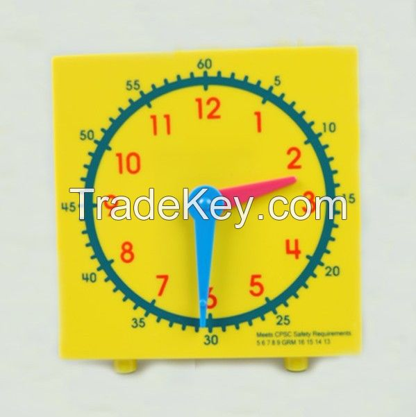 plastic clock, student clock, student clock for learning