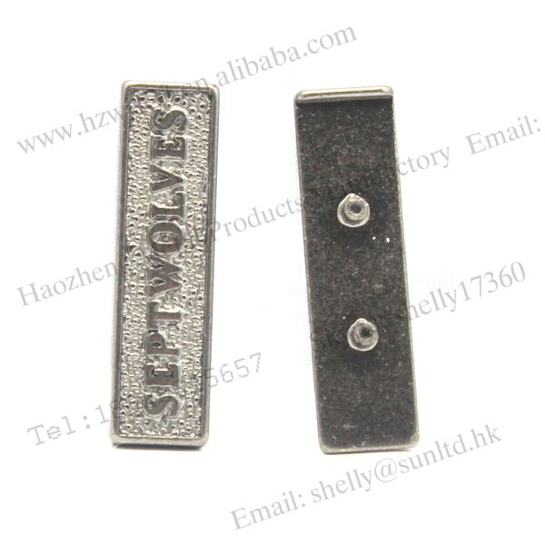Gold Hollow Letter Metal Tags use for Handbag