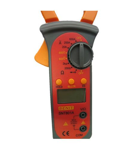 snt801a digital clamp meter with voltage test