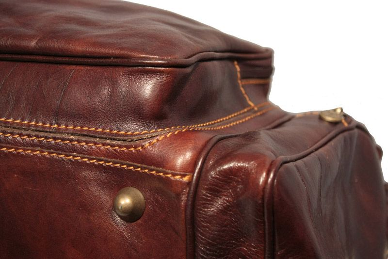 Vintage leather travel bag,duffel bag with top quality