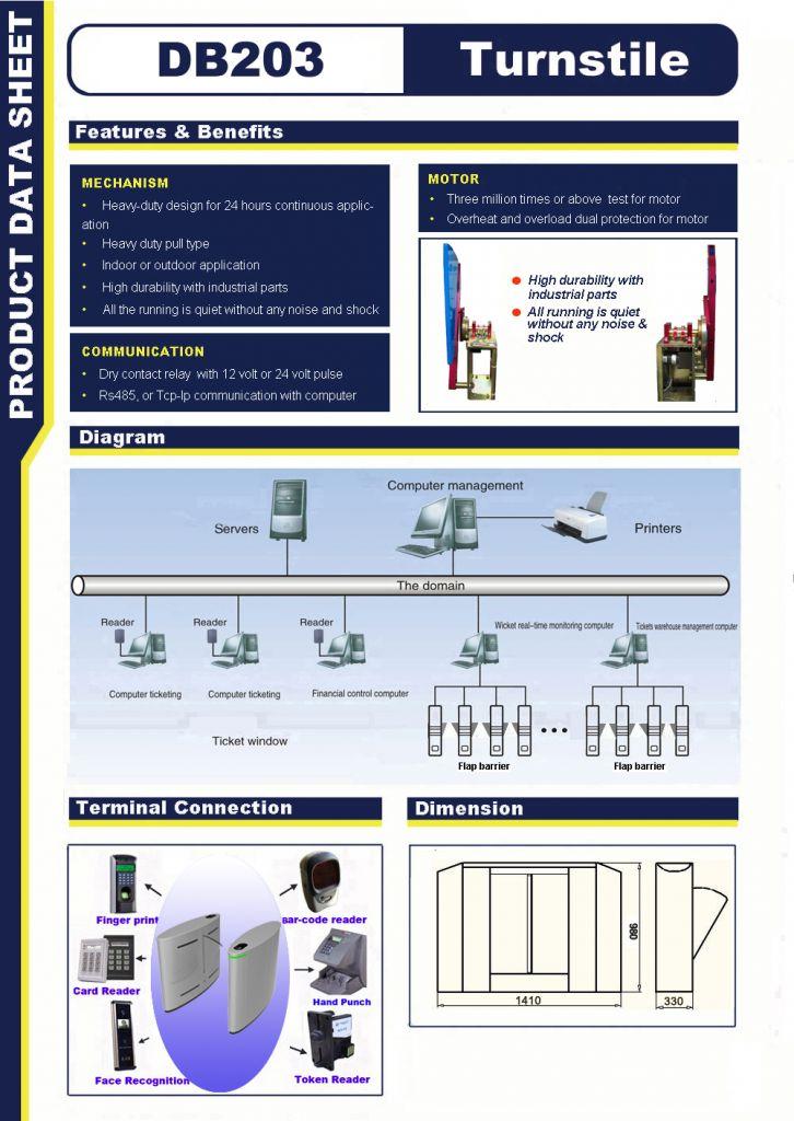 Flap barrier gate model (DB203)