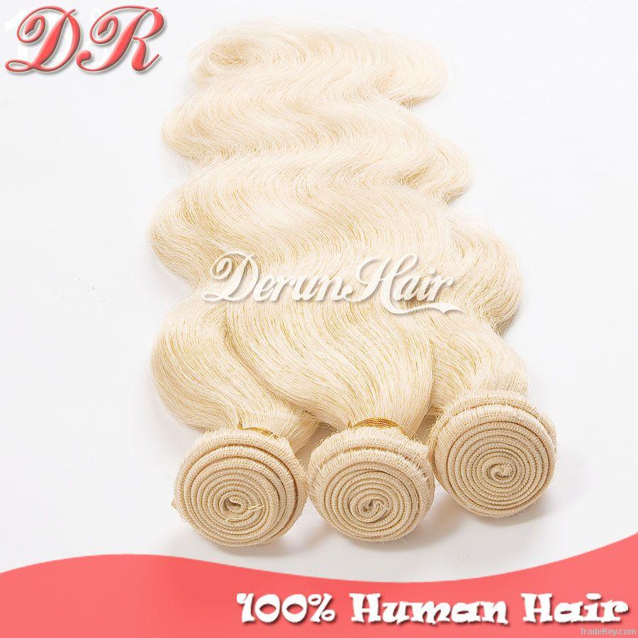Body Wave Hair Weft Color#613, Virgin Human Hair Extension, Weaving