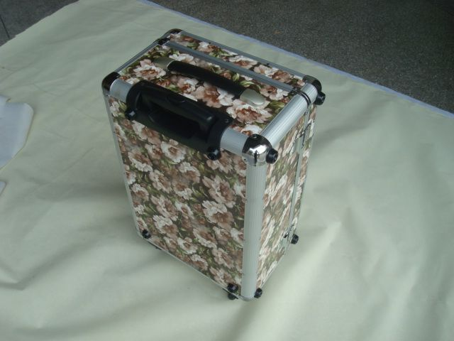 aluminum trolley case rolling luggage hard case travel case with wheels