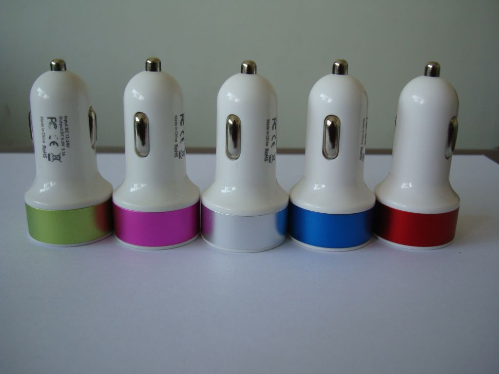 3.1A double USB car charger newest style
