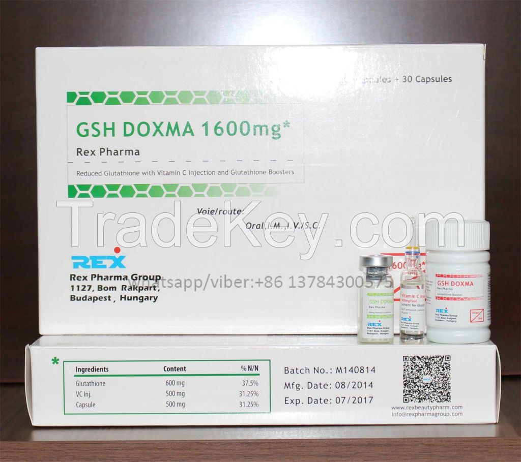 Glutathione for injection 600mg for skin lightening