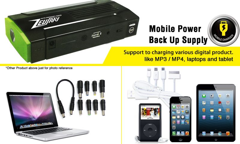 New 2013 ZEUSRAY Auto emergency power/start 12Vcar battery charger portable multi-function for mobiles,MP3/MP4----GE05157