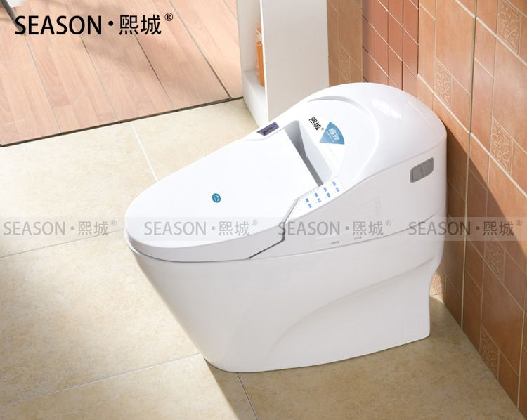 Whole Price One Piece Smart Toilet Floor Mounted Intelligent Closestool For WC Bathroom Ceramic Cyclone Flushing Toilet SMT001