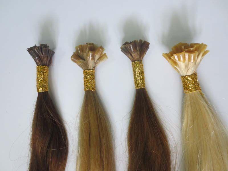Nail Tip Colored Hair