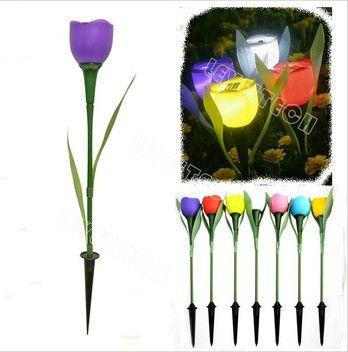 Plastic Tulip Solar Garden Light