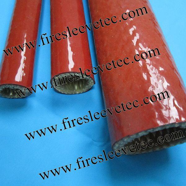 BSTFLEX silicone Rubber Coated Fiberglass Braided Fire Sleeve