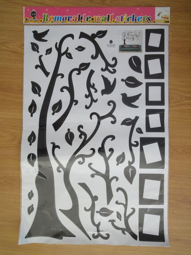 Photo frame wall tree decal