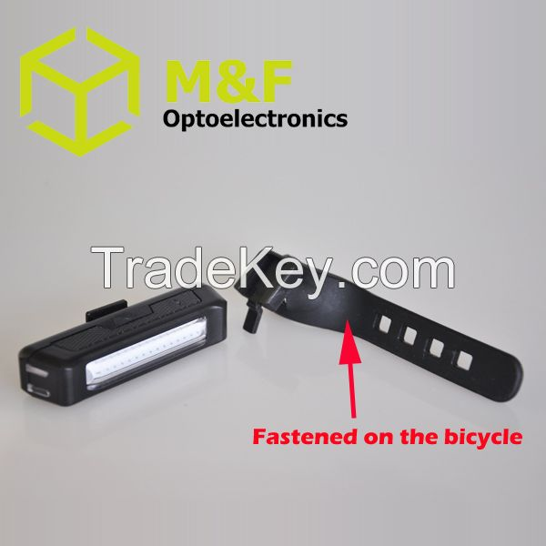 New Safe Rechargeable LED USB Bike Light COB Tail Bicycle Light