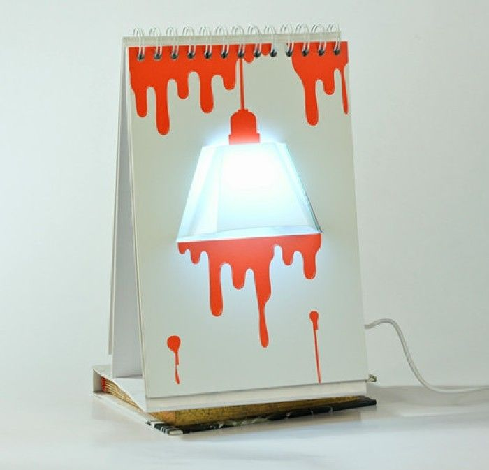 led page by page calender usb and battery inlay desk lamp