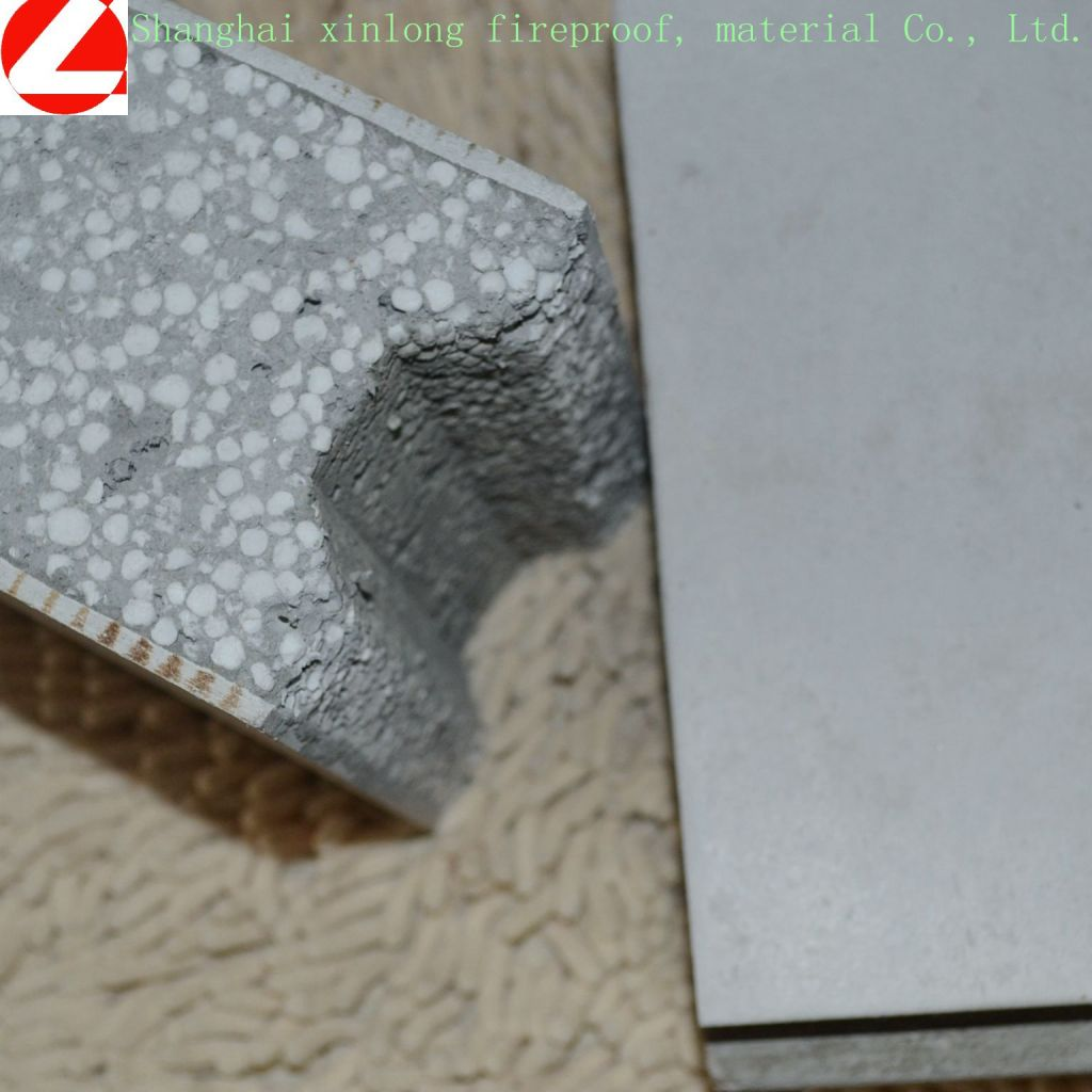 EPS cement board with good fireproof materials, heat insulation materials and building materials