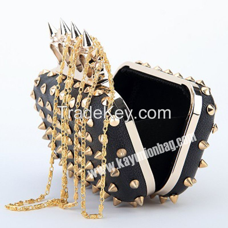 Ladies Clutch Bag For Party With Finger And Studs