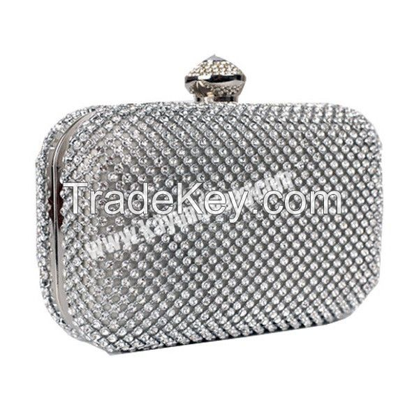 Crystal Clutch Bag With Full Cover