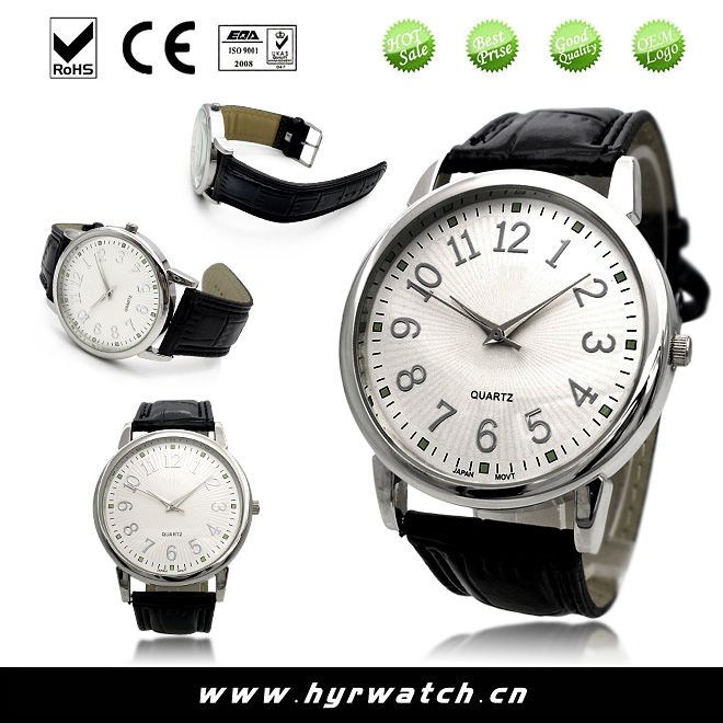 2014 watches men with genuine leather band