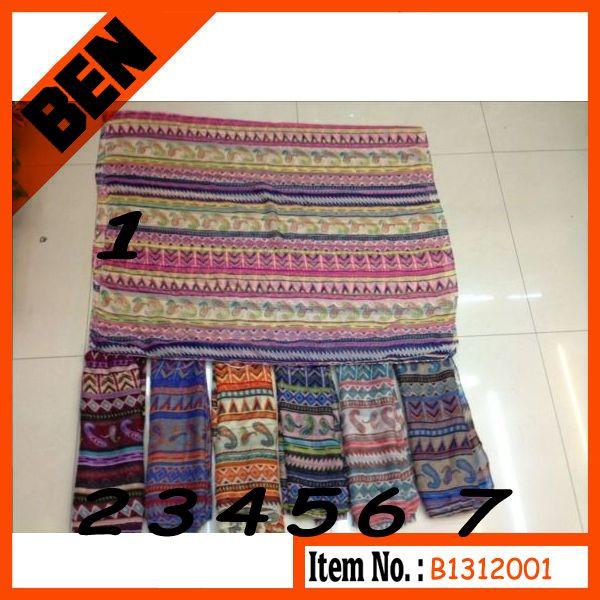 fashion spring printing polyester scarf