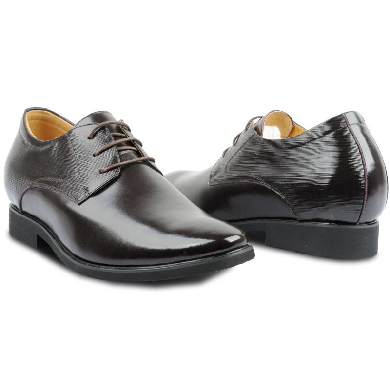 X003-5  New Dress Elevator Shoes Increase Height From 5-10 cm For Men In Black