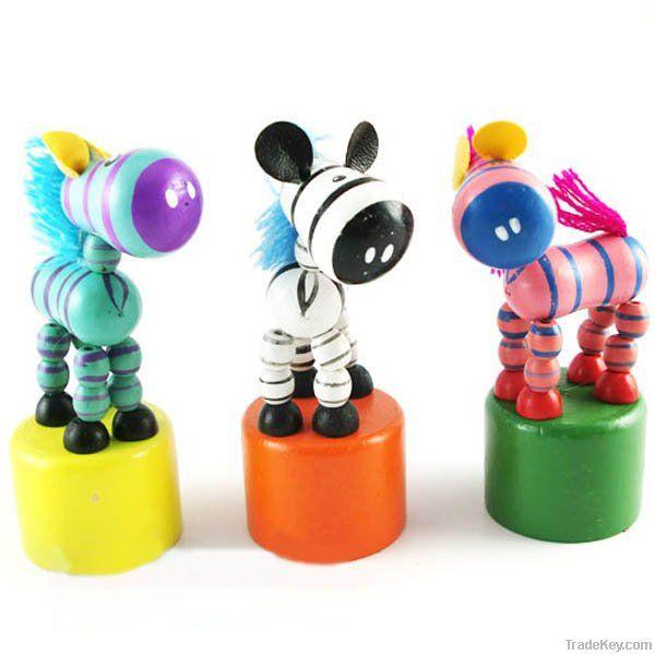 Wooden Dancing Animal Toy