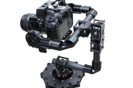 3-axis Carbon Fiber Brushless Gimbal Camera Mount w/Hollow Motor for 5D 7D DSLR Cameras FPV Aerial Photography