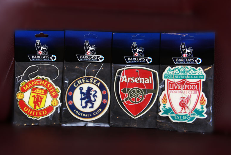 Paper Car Air Fresheners (Football Team Logos)