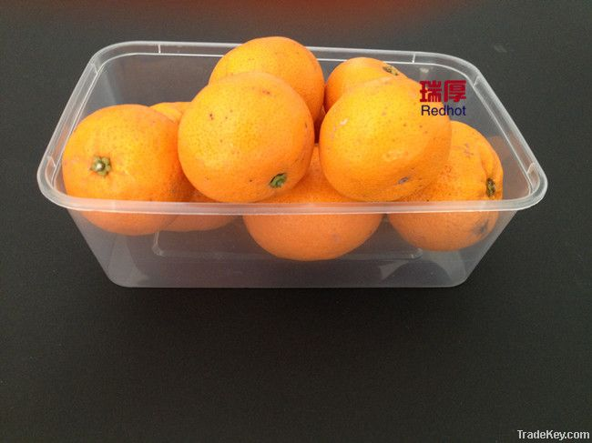 Disposable Microwave Plastic Food Container Box With Lid