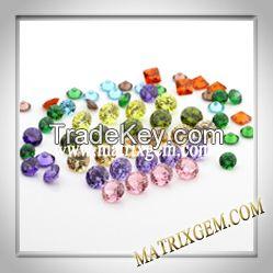 Lab Created Color stone Cubic zirconia (CZ Diamond) Round Special shapes customize