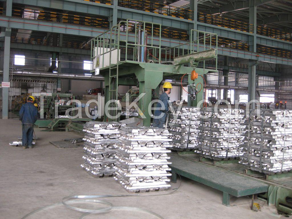 Primary Aluminum Ingots A7, 99.7%