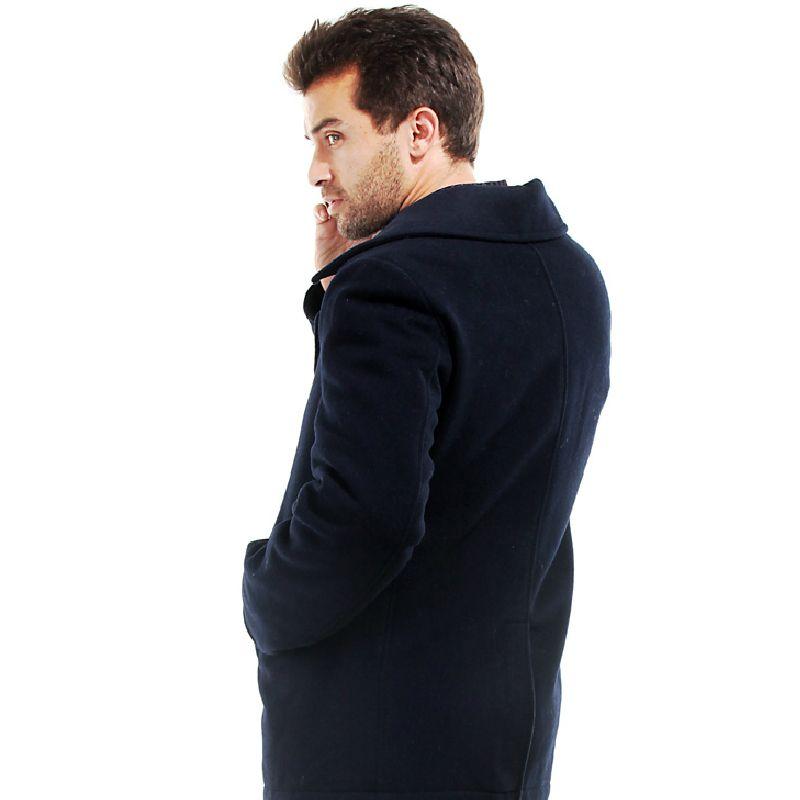 Seibertron Industries USN Wool Pea Coat Men's Winter military wool jacket coat Navy pea Coat