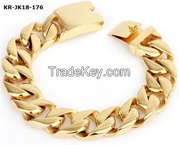 Stainless Steel 18K Gold Bracelets