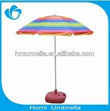 Colorful stripe windproof beach umbrella