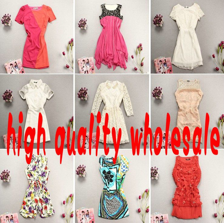 Wholesale  mix styles 2013 2014 winter summer autumn high quality foreign trade women clothing dress skirt down knitted